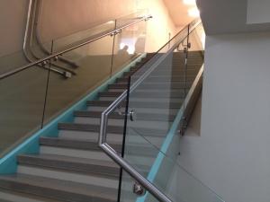 Rampe escalier, main courante, acier inox